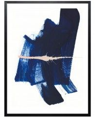 Brushstrokes 4-Poster gerahmt