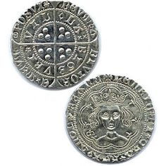 Our Henry VI Groat Replica Medieval Coin circa 1430 a Fifteenth Century Silver Groat. King Henry VI reigned from 1422 to 1461 and from 1470 to his reign was interrupted by Edward IV. Great for living history groups and coin collectors. Coin Design, Leather Armor, Renaissance Clothing, King Henry, Larp, Coins, Personalized Items, Sterling Silver, Costumes