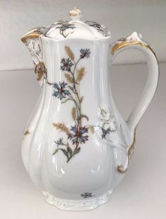 EARLY HAVILAND LIMOGES (H&Co) COFFEE CHOCOLATE POT