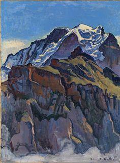 Hodler Ferdinand Das Jungfraumassiv von Mürren aus 1911