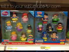 Little People fisher-price Disney Princesses and DC Super Friends only at Target!  TITYN!  To fit with the little people toys we already have: bus, airplane, house, zoo...