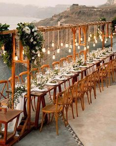 Trendy And Creative Wedding Ideas Your Guests Will Admire ★ wedding ideas rustic light sitting place Wedding Set Up, Wedding Dinner, Wedding Table, Rustic Wedding, Dream Wedding, Wedding Ideas, Phuket Wedding, Bali Wedding, Forest Wedding