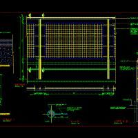 Railing Detail (dwg - Autocad drawing ) - Handrails