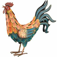 Teal Decorative Rooster I Need For Above My Kitchen Cabinet
