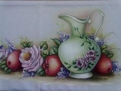Resultado de imagem para sandra s. moraes pinturas China Painting, Tole Painting, Fabric Painting, One Stroke Painting, Arte Floral, Painting Patterns, Beautiful Paintings, Fabric Design, Coloring Pages