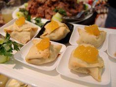 Pastelinhos de carne e ananás