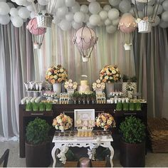Decoration Birthday Party Ideas Create your perfect party with various decorations like the picture below!Choose from some of plain and themed birthday party decorations including banners, bunting, paper decorations, pom poms,baloon and more. Balloon Decorations, Birthday Party Decorations, Baby Shower Decorations, Birthday Parties, Shower Party, Baby Shower Parties, Bridal Shower, Shower Bebe, Girl Shower