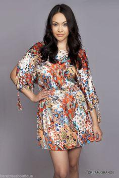 ebay plus size dresses orange