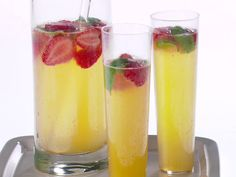 Strawberry, Lemon and Basil Mimosa from FoodNetwork.com