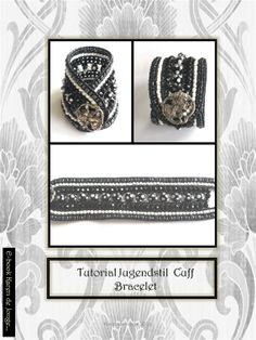 Winter offer 7 Strand Leather Cuff Bracelet Tutorial by Beadsagogo, $7.50