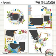 Titled #05 | Templates by Akizo Designs for Digital Scrapbooking Layout