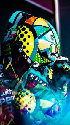 Motogp Valentino Rossi, Valentino Rossi 46, Custom Bike Helmets, Custom Bikes, Motorcycle Racers, Vr46, Hot Bikes, Koenigsegg, Iphone Wallpaper