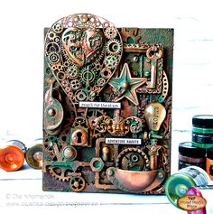 Ola Khomenok shows you the magic you can create using Finnabair Art Alchemy Metallique Paints and Waxes, Texture Paste and Rust Effect Paste! Watch her great video tutorial and visit the blog for detailed photos. https://loom.ly/bA6QnXk