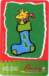 Snoopy inside Christmas boot
