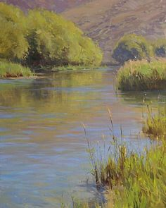 Jesse Powell - Silver Creek Reflections- Oil - Painting entry - December 2009   BoldBrush Painting Competition
