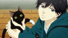 Ao Haru Ride. Kou and cat