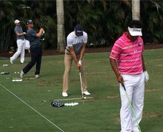 Lots of @Titleist firepower on the @CadillacChamp range.