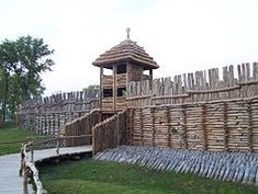 Biskupin - The archaeological open air museum is an archaeological site and a life-size model of an early Iron Age (800-650 BC and 650-475 BC) fortified settlement Poland.