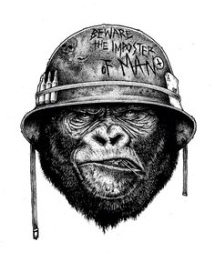 gorilla tattoo idea                                                                                                                                                     More