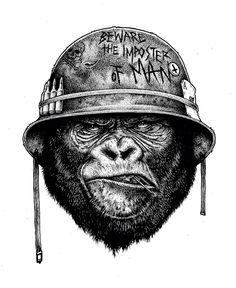 gorilla tattoo idea                                                                                                                                                     More