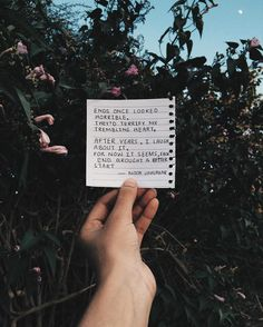 'Ends once looked horrible, They'd terrify my trembling heart, After years, i laugh about it, For now it seems, each end brought a better start' // poetry at unexpected places pt. 9 by Noor Unnahar https://www.instagram.com/noor_unnahar/ // poem, words, quotes, hipsters tumblr aesthetics lit literature, college students ideas inspiration, instagram creative photography beige, artists, writers of color //