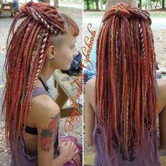 half up dreadlocks hairstyle