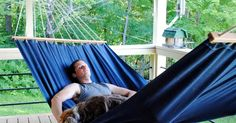 We've been talking about making a hammock for the deck since last summer, and this week we finally got around to it. Below are the fu...