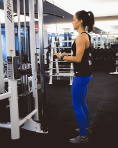 4. Cable Triceps Bar (or Triceps Pushdown) #fitness http://greatist.com/move/best-gym-machines