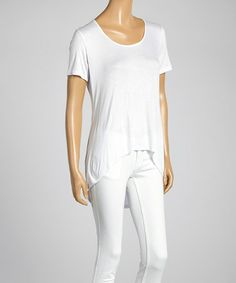 Another great find on #zulily! White Hi-Low Tee #zulilyfinds