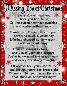 missing u at christmas poem miss you mom mom and dad love grief - Merry Christmas From Heaven Poem