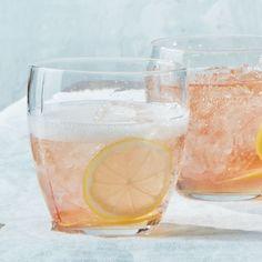 Rosé Spritzer Recipe SERVINGS: MAKES 1 2 lemon slices 4 dashes Peychaud's bitters ½ ounce St-Germain (elderflower liqueur) 4 ounces sparkling rosé