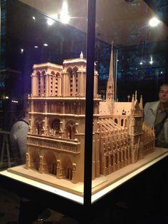 Maquete física Notre Dame - Paris - Foto: Arquiteta Cláudia F. Ferreira