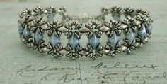 Linda\'s Crafty Inspirations: Bracelet of the Day: Bluebell - Blue & Silver