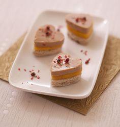 Toasts coeur foie gras mangue pour la Saint-Valentin