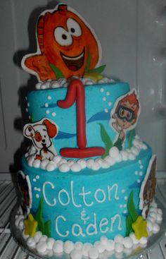 Bubble Guppies Fondant Cake Topper Set by shannondean4 on Etsy, $20.00