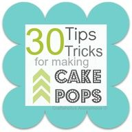 Lots of great tip and tricks! I used them when I made cake pops for the first time and it helped a ton!