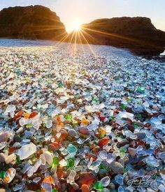 Glass Beach, Fort Bragg, California #travel #USA. Ive been here! So cool,it really looks like this!