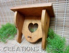 Wood Wall Shelf Heart Cutout Towel Key Hanger Brown Wooden