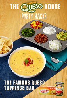 Velveeta and RO*TEL make any gathering great. Rich, melty and BOLD Famous Queso is a crowd-pleasing dip, snack, or appetizer… (With images) Party Hacks, Party Ideas, Winter Fruits And Vegetables, Citrus Fruits, Vegetables List, Spring Fruits, Veggies, Appetizer Recipes, Healthy Recipes