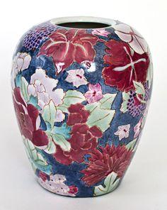Vintage Chinese Cloisonne Vase. $35.00, via Etsy.