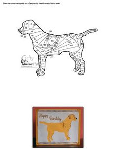 Home : Iris Folding : Animals : Labrador Dog Iris Folding Pattern