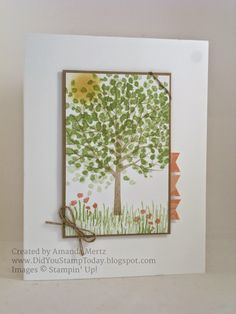 Did You Stamp Today?: Spring Weather - Stampin' Up! Sheltering Tree
