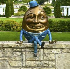 Mr. Eggwards -  Humpty Dumpty -Sculpture in the Park - Mt. St. Mary Park Arboretum - Saint Charles IL