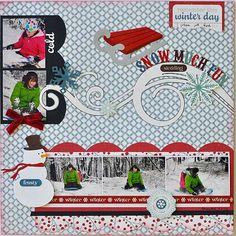 Snow much fun sledding! - Scrapbook.com