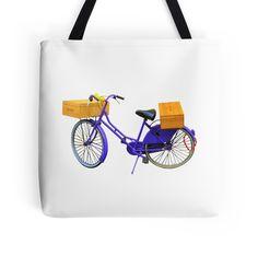 purple bicycle by AHELENE