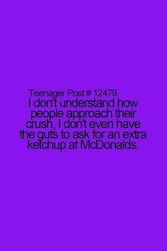 Same! But for me if I have a crush I won't tell anyone, it's just like my dirty little secret