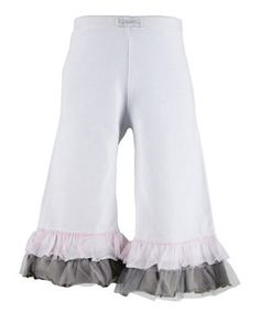 Look at this #zulilyfind! Rainy & White Ruffle Pants - Toddler & Girls by Naartjie Kids #zulilyfinds