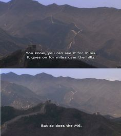 Karl Pilkington on the Great Wall of China