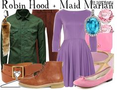 """""""Robin Hood + Maid Marian"""" by lalakay ❤ liked on Polyvore"""