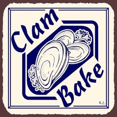 Vintage Clam Bake Sign #vintagesign #retro dotandbo.com